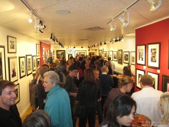 Sept. 18 - The exhibition and book signing at Liss Gallery in Toronto had over 70 of my photos and the opening drew a big crowd.