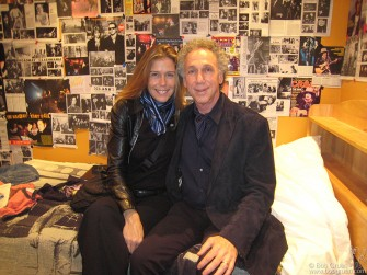 Elizabeth and I relax in the 'teenage bedroom' part of the Toronto exhibit.
