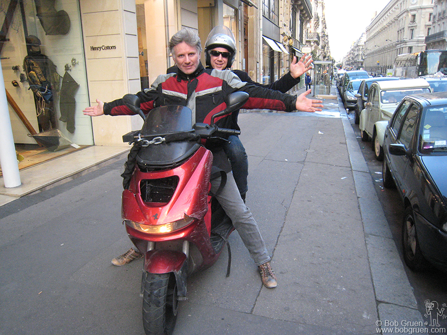 Sept 25 - Paris - My friend Bruno Blum gave me a ride around Paris on his motorbike, which was pretty exciting. Then he was off to the African country of Eritrea to produce music with some local musicians there.
