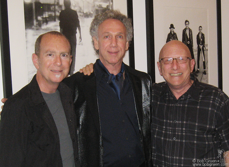 Oct 11 - Los Angeles - Sam Milgram and Richard Horowitz welcome me to the Morrison Hotel Gallery in Los Angeles for my exhibition and book signing there.