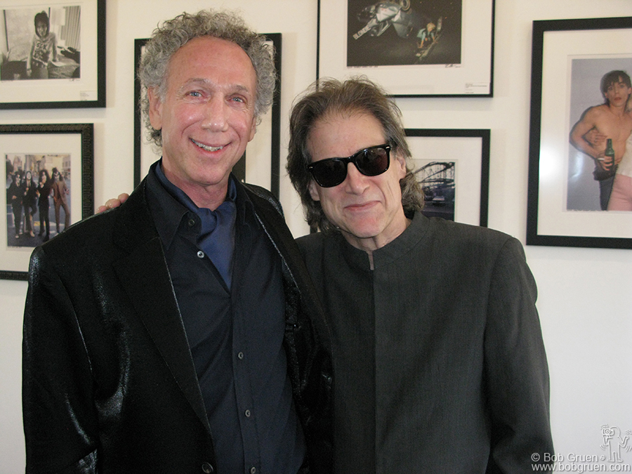Oct 11 - Los Angeles - My friend, comedian Richard Lewis came to the opening of my exhibition at Morrison Hotel Gallery.