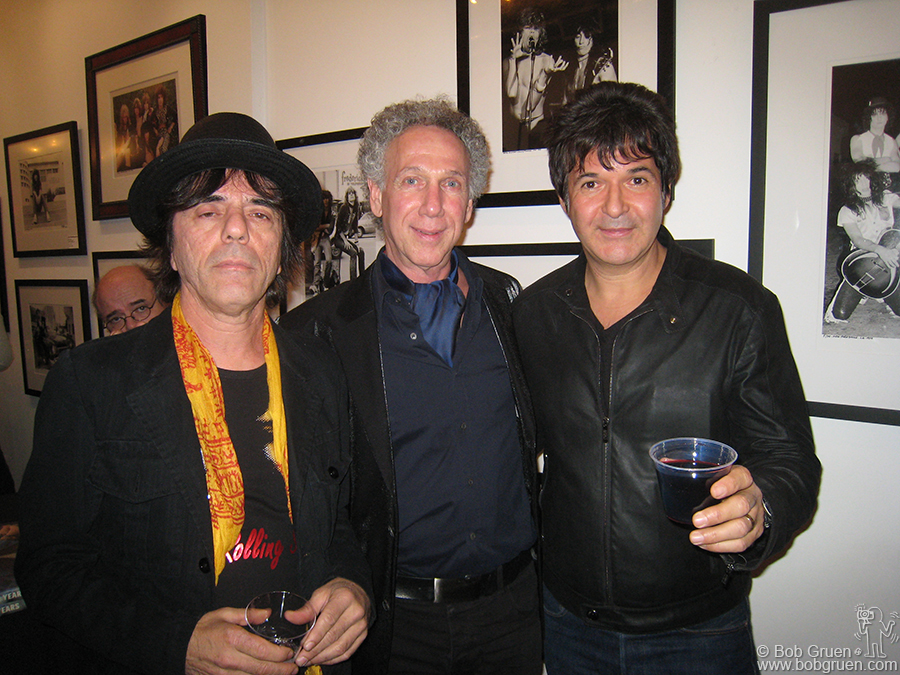 Original Blondie members Frankie Infante and Clem Burke at the LA opening. They are both big NY Dolls fans and knew them well.