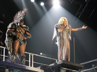 While in Los Angeles I saw Tina Turner at the Staples Center. She sang 'We don't need another hero', and as long as we have Tina who needs another hero?
