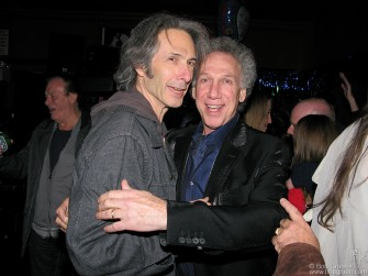 Lenny Kaye gives me a big birthday hug. Lenny and I are like 'brothers from different mothers'.