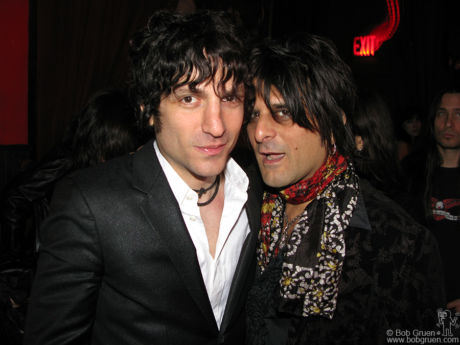 Jesse Malin with New York Doll Steve Conte at my party at R Bar.