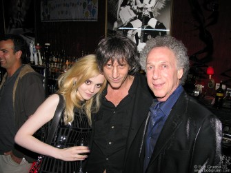 Victoria Wallace and Joey Ramone's brother, Mickey Leigh at my party.