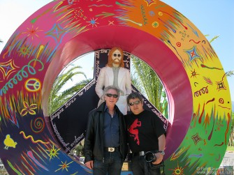 The exhibition was set up by my friend Fernando Aceves, the best rock photographer in Mexico. We went for a drive outside Monterrey and came across the 'Woodstock Park' a Rock and Roll cantina in the desert!