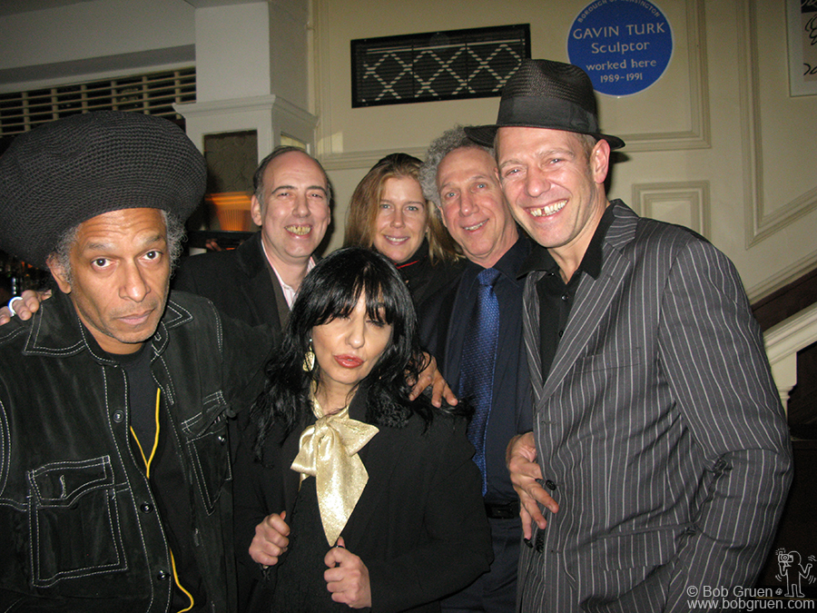 After Luce and Mike's reception we hung out at the Groucho Club with Don Letts, Mick Jones, Patti Palladin and Paul Simonon.