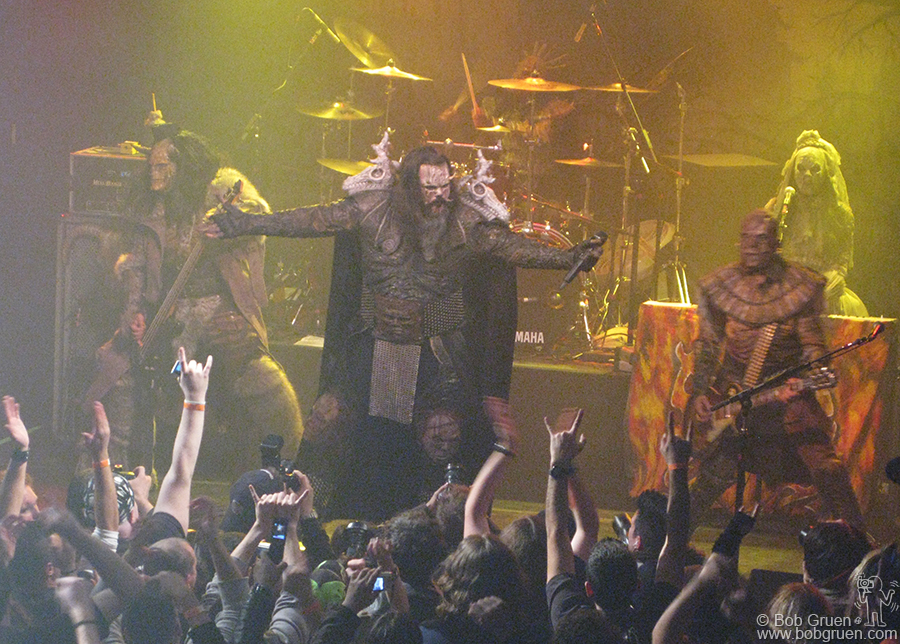 Nov 24 - NYC - Lordi played a monstrous show at the Fillmore East @ Iriving Plaza and the crowd roared back.
