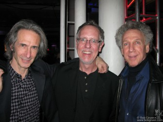 Lenny Kaye and I say hi to Jim Henke, director of the Rock and Roll Hall of Fame. It's very cool that there is a branch of the museum in New York.