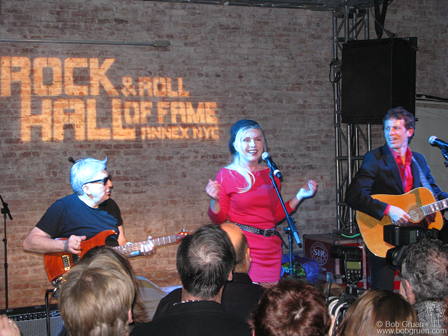 Debbie Harry and Chris Stein played a short and fun set at the Rock and Roll Hall of Fame Annex opening.