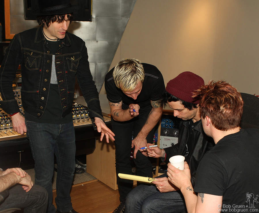 Green Day writing a song with Jesse Malin at Stratosphere Sound.