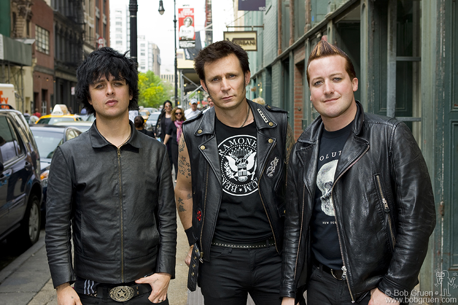 May 16 - NYC - Green Day on the street in Soho.