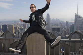 May 16 - Tre Cool at Top of The Rock.