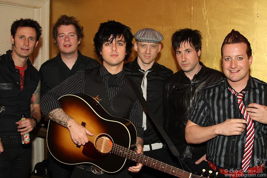 May 18 - NYC - Green Day backstage at Bowery Ballroom.