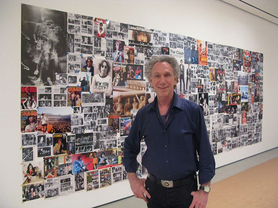 The Museum of Modern Art opened an exhibition called 'Looking at Music'. The theme: how media interacted with music in New York in the 1970's. I was invited to create a 'Teenage Bedroom Wall' installation. I made a collage of my photos from magazines and posters, over 22 feet long for the exhibit.