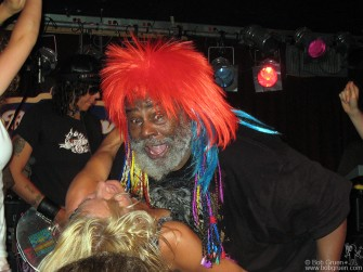 July 8 - George Clinton gets down and dirty during his show at B.B. King's club and he's obviously enjoying it.