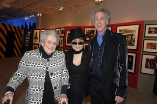 My 95 year old mom was happy to meet Yoko at the opening. I learned everything I know about photography from my mom. Photo by Linda Rowe.