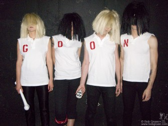 June 18 - Goon Squad was the opening band when Blondie played on Long Island in June. With their looney look and poppy sounding music they were very entertaining. The New York Dolls were also supposed to play but rain forced their set to be cancelled.