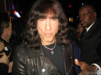 March 4 - Marky Ramone was all smiles at the party for his designs for the new Rock Scene line produced by Tommy Hilfiger at the Hilfiger store in Soho.