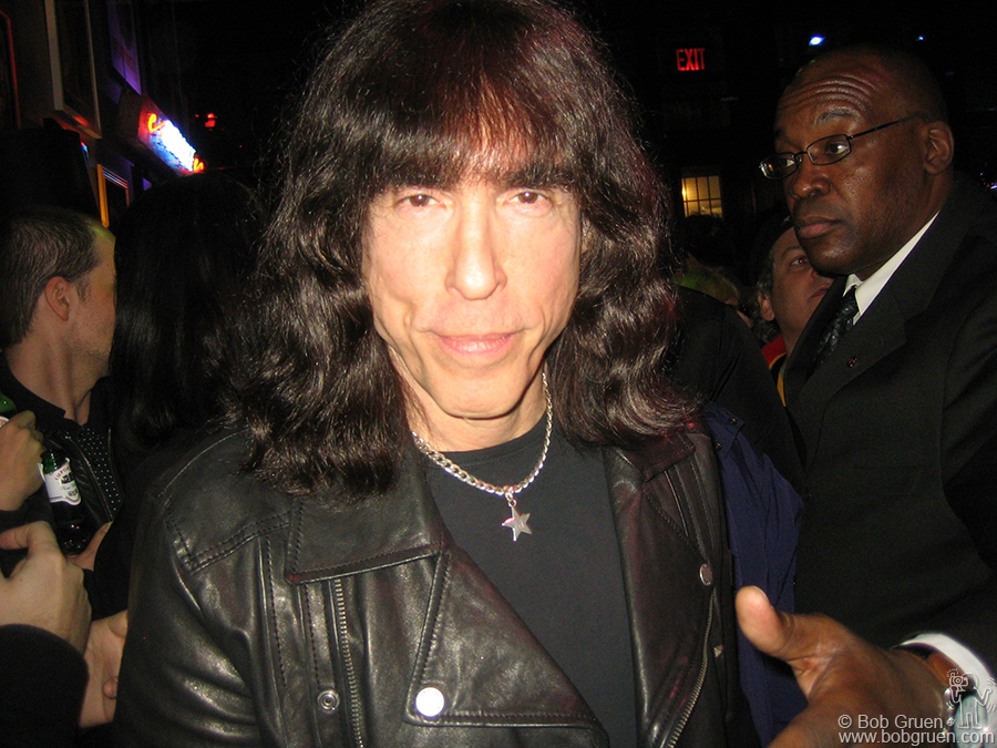 March 4 - NYC - Marky Ramone was all smiles at the party for his designs for the new Rock Scene line produced by Tommy Hilfiger at the Hilfiger store in Soho.