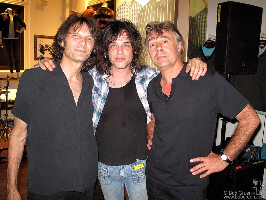 Aug 18 - NYC - Dennis Dunaway, Keith Roth & Glen Matlock at the Love and Rockets tribute show at the Ben Sherman store. They both joined Keith's band Frankenstein 3000 - and David Johansen sang a few songs too, with Tish and Snooky backing them up!