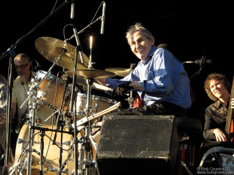 Sept 2 - Levon Helm showed he has lots of energy at Central Park Summerstage.