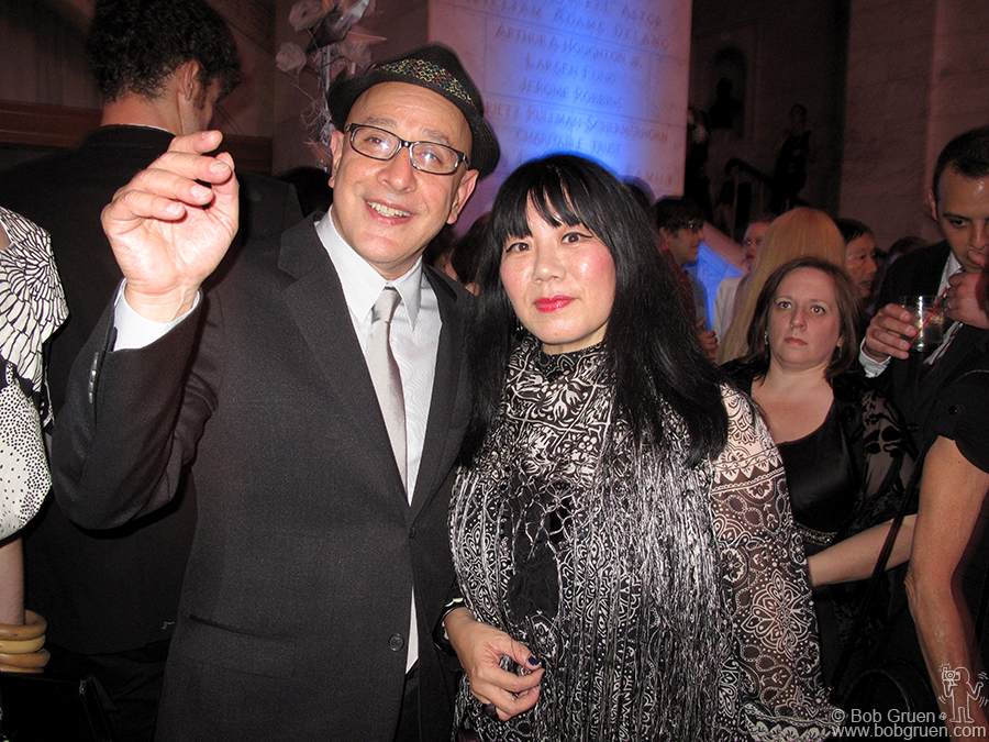 Sept 8 - NYC - David Hershkovits & Anna Sui at Paper Magazine's 25th Anniversary party at the New York Public Library.