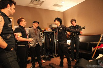 Mike Dirnt, Tre Cool, Jason Freese, Billie Joe Armstrong & Jason White, NYC - 2009