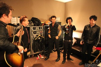 Jason White, Tre Cool, Mike Dirnt, Billie Joe Armstrong & Jeff Matika, NYC - 2009