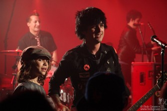 May 20 - Young fan Jake crowd-surfed to the stage to meet Billie Joe.