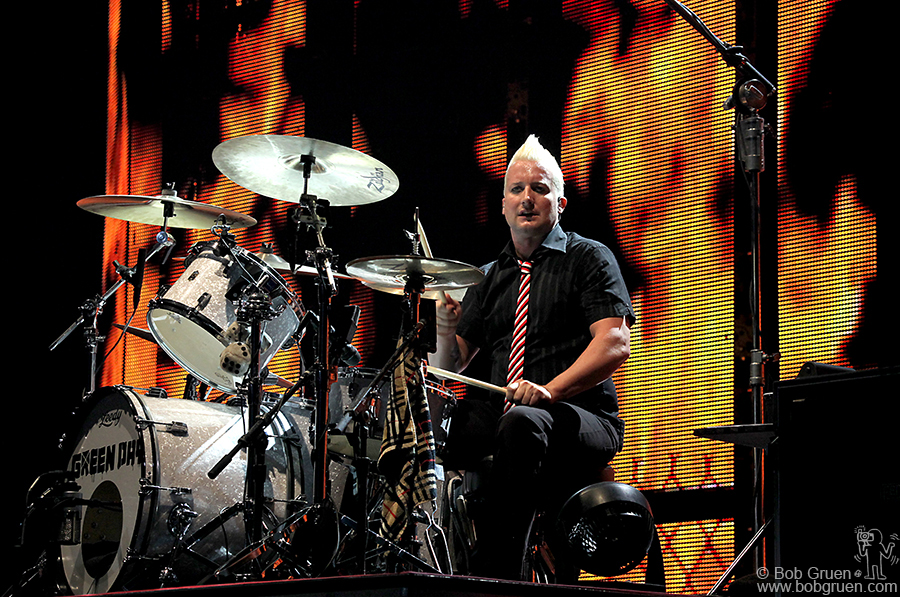 Tre Cool on the drums, and yes, he is cool!