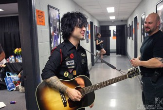 Billie Joe's ready to go on.