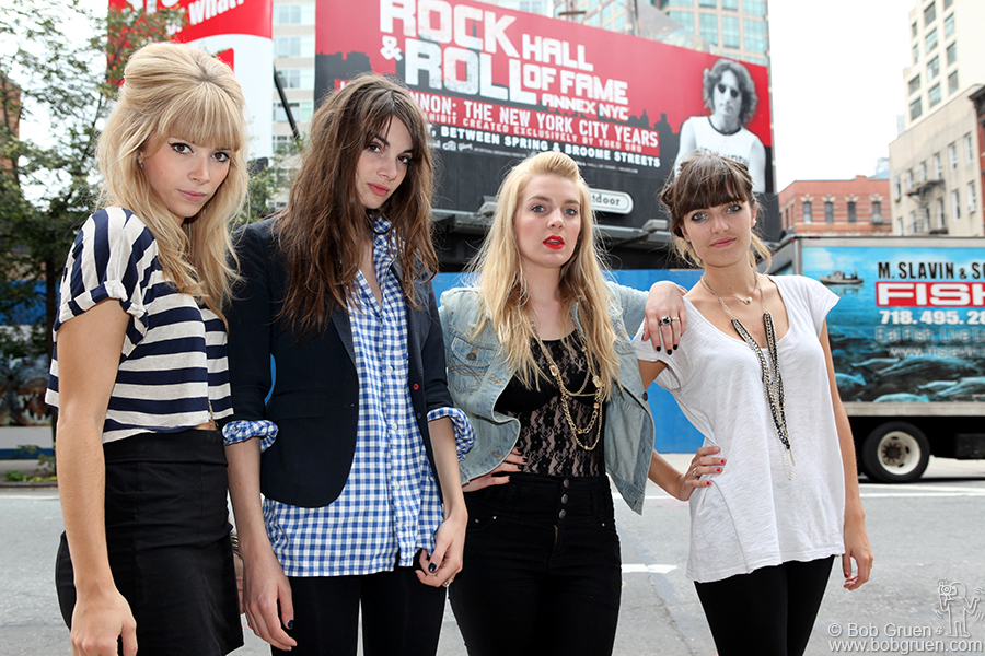 Sept 16 - NYC - French band The Plastiscines, (left to right) Katty Besnard, Louise Basilien, Anaïs & Marine Neuilly stopped in New York on a recent tour of the US.