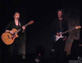 Jan. 15 - Suzanne Vega appeared at the new club, City Winery with old friend and producer Lenny Kaye.