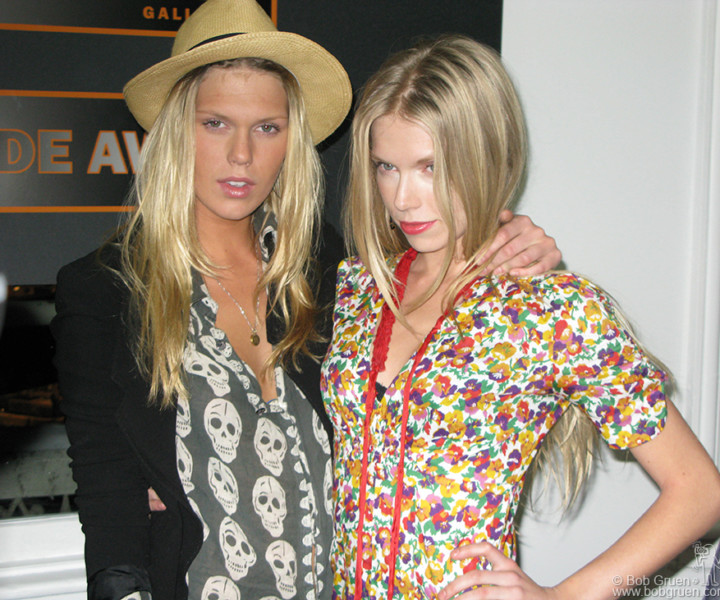 March 7 - NYC - Keith Richard's daughters Alexandra and Theodora. were the DJ's at the party to open an exhibition of Beatles and Rolling Stones photos by their '60's U.S. Tour Manager Bob Bonis at the Not Fade Away Gallery in New York.