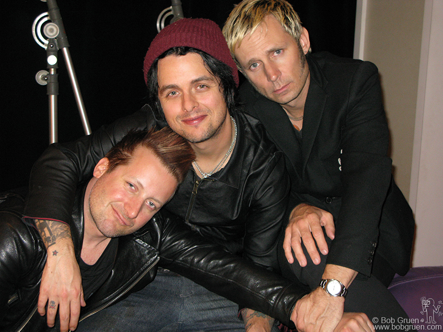 March 31 - NYC - Green Day at Electric Lady Studio after hearing the final version of '21st Century Breakdown' for the first time.