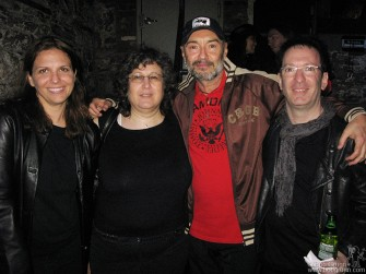 At the Bowery Electric after-party for the film, CBGB family members Louise Parnassa, Lisa Crystal, Arturo Vega and BG celebrated.