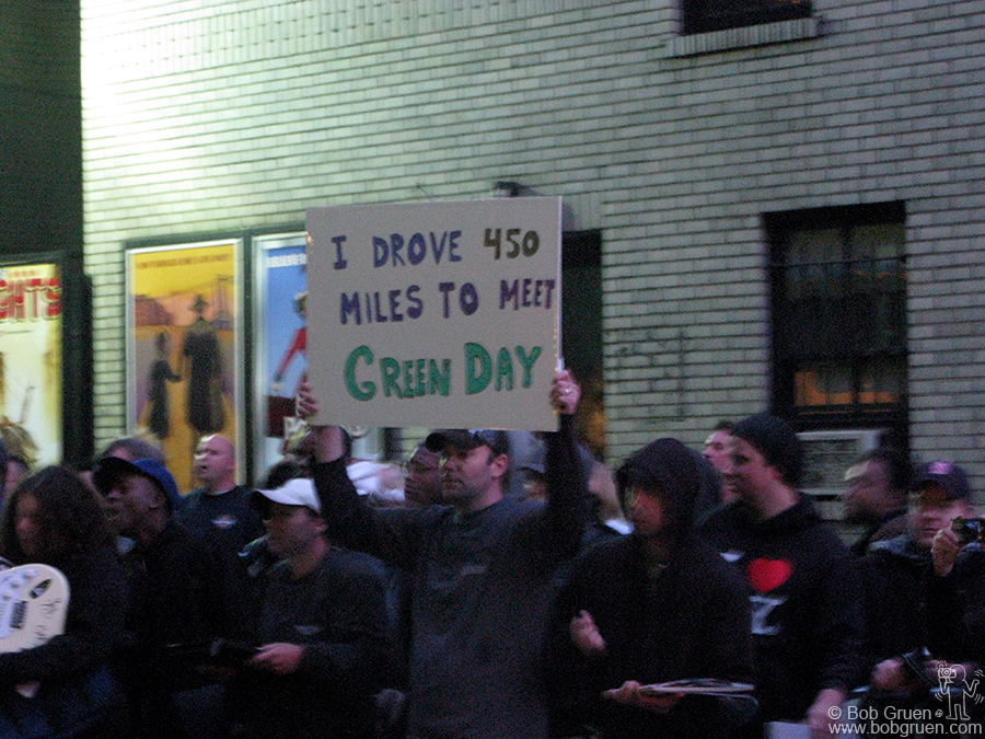 May 18 - NYC - Green Day fans outside of the Late Show with David Letterman.