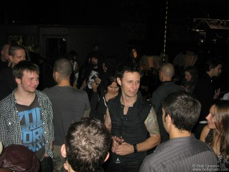 May 19 - Mike Dirnt and fans after the Green Day show at Webster Hall.