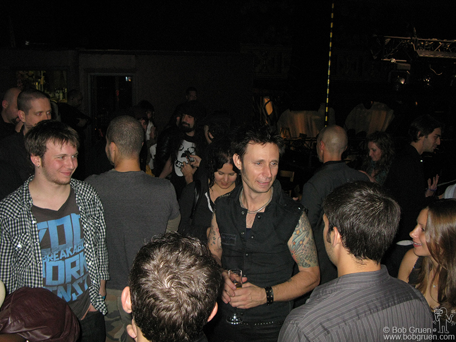 Mike Dirnt and fans after the Green Day show at Webster Hall.
