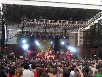 June 20 - Gogol Bordello packed the McCarren Pool in Brooklyn with thousands of happy, dancing fans.