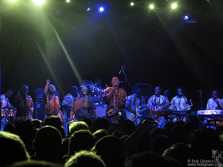 June 4 - NYC - Fema Kuti performs at Irving/Fillmore with his band and singers and dancers rockin' it African style!