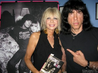 June 7th - Dee Dee Ramone's ex-wife Vera with Marky Ramone at the party for Vera's book 'Poisoned Heart'.