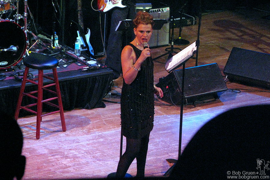 June 10 - NYC - Sandra Bernhard performs her very funny one woman show 'Without You I'm Nothing' at Town Hall.
