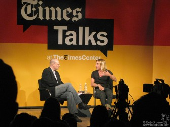 June 24 - Iggy Pop was interviewed by New York Times critic Ben Ratcliff at the New York Times Talks series. He was very articulate and open.