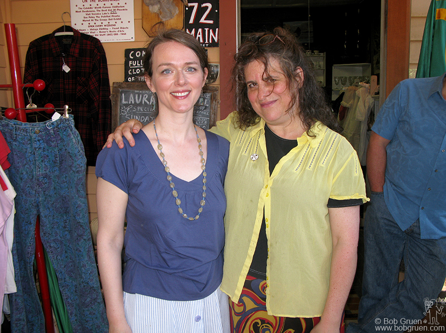 July 5 - Phoencia, NY - Singer Laura Cantrell performed at the Mystery Place in Phoenica, NY owned by writer/photographer Laura Levine (on right above).