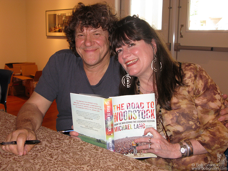 July 5 - Woodstock - Michael Lang and Holly George-Warren signed copies of their new book about Michael's adventures organizing the great Woodstock Festival in 1969.