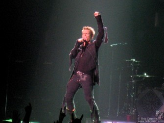 August 26 - Billy Idol rocked the night away at the Hammerstein Ballroom.