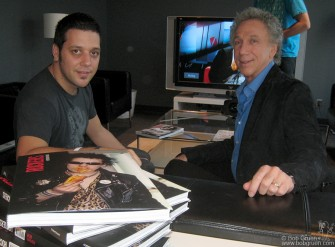September 16 - Bob Gruen tapes a segment of 'The Hour' with Canada's most popular TV personality George Stroumboulopoulos.